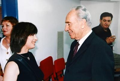 with President Shimon Peres