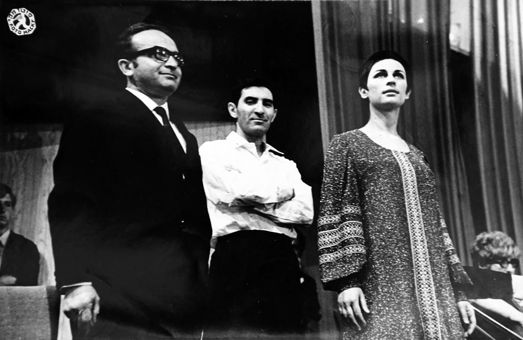 Nurit with Moni Amarillio and Yaakov Hollander