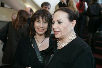 with Gila Almagor