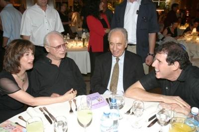 with Ephraim Kishon and president Shimon Peres