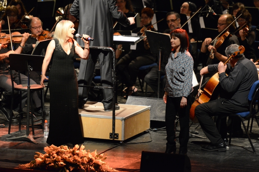 Nurit and Ilanit at a concert with the Haifa Symphony
